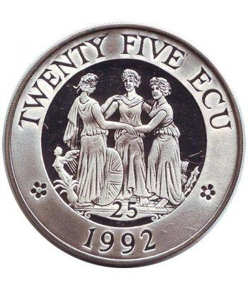 Moneda de plata 25 Ecu Gran Bretaña 1992 Europa. Proof.  - 1