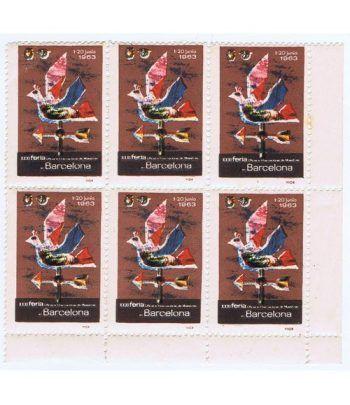 Viñetas Feria Muestras Barcelona 1963. 6 viñetas.  - 2