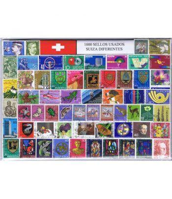 Suiza 1000 sellos usados diferentes  - 2