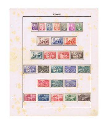 Colección Sellos de Andorra Francesa 1944/1978. Fijasellos.  - 1