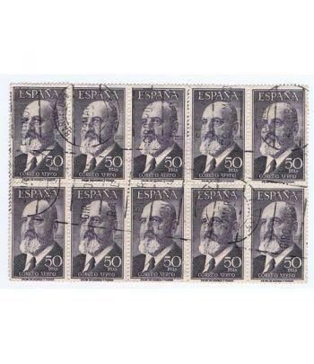 1165 Torres Quevedo. 10 sellos. Usados.  - 2