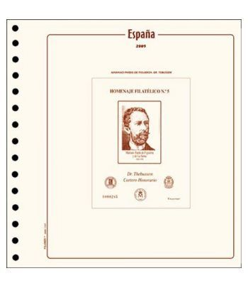 FILOBER ESPAÑA Homenaje Filatélico 2019 montado con estuches. Hojas FILOBER Cultural - 2