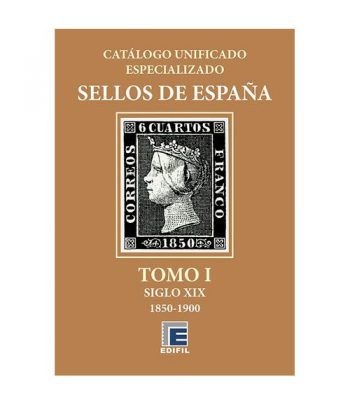 EDIFIL España Serie bronce 2020 especializado Tomo I (1850/1900) Catalogos Filatelia - 2