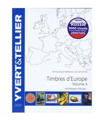 YVERT ET TELLIER Europa volumen 4 (Polonia-Rusia) 2020 Catalogos Filatelia - 2