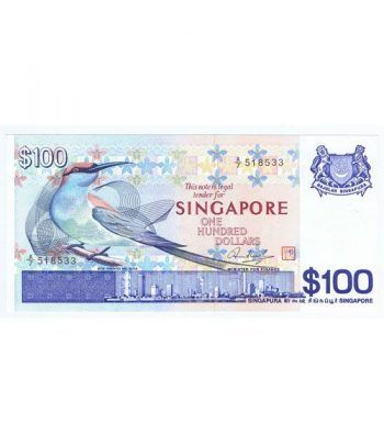 Singapur 100 Dolares. One Handred Dollars 1977. Sin Circular.  - 1