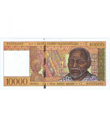 Madagascar 10000 Francs Roa Arivo Ariary 1995. Sin Circular.  - 1