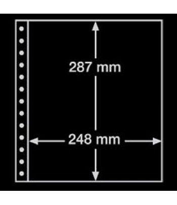 LEUCHTTURM hoja R, 1 división, negro. 13 anillas. Hojas sellos Leuchtturm - 2
