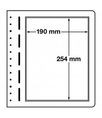 LEUCHTTURM hojas en blanco LB 1 división. Paquete 10. Hojas Clasificadoras - 1