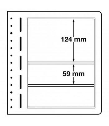 LEUCHTTURM hojas en blanco LB 3 MIX. 3 divisiones variadas.  - 1