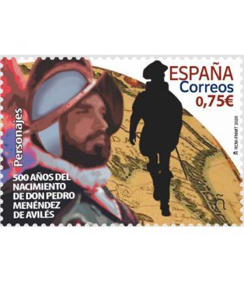 Sello de España 5382 500 años nacimiento D. Pedro Menéndez de Avilés  - 2