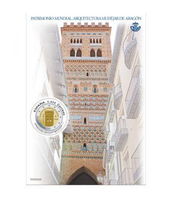 Sello de España 5389 HB Patrimonio mundial Arquitectura mudéjar de Aragón  - 1
