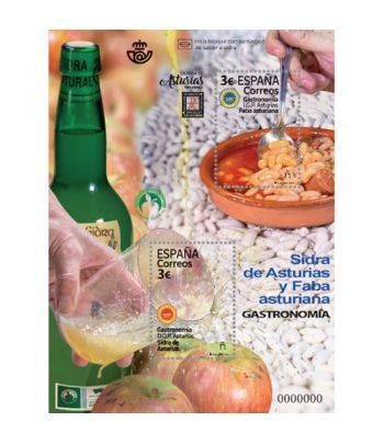 Sello de España 5391 HB Gastronomía D. O. Protegidas de Asturias.  - 2