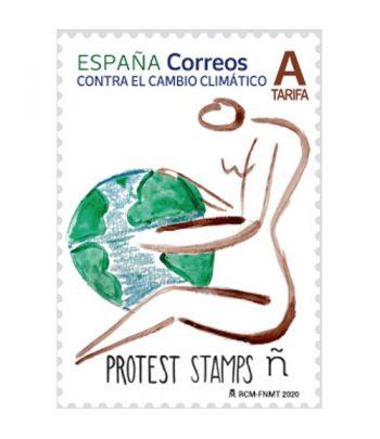 Sello de España 5396 Protest Stamps Contra el cambio climático  - 1