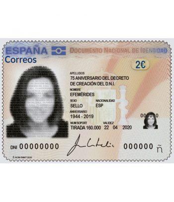 Sello de España 5400 75 aniversario Decreto de creación del DNI  - 1