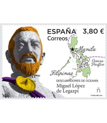 Sello de España 5413 Descubridores de Oceanía. Miguel López de Legazpi.  - 1