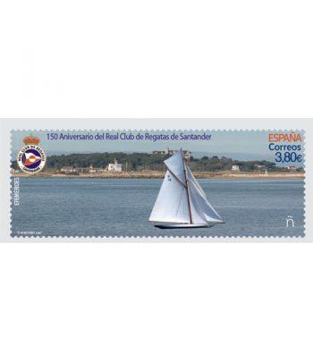 Sello de España 5417 150 Aniversario del Real Club de Regatas de Santander  - 1