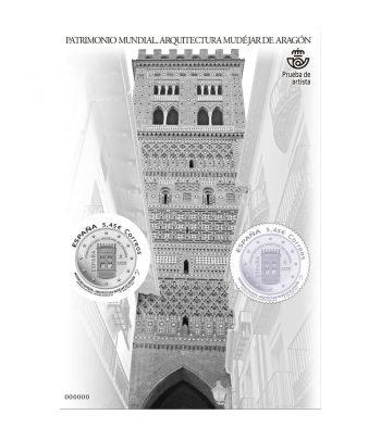 Prueba Lujo 146 Arquitectura Mudéjar Aragón. Sello plata.  - 1