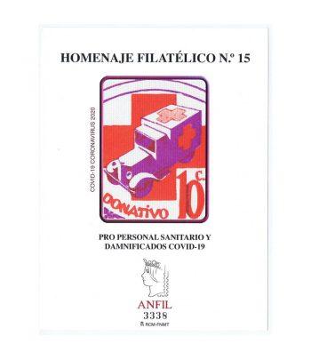 Homenaje filatélico nº15 año 2020 Personal Sanitario y Covid-19.  - 3