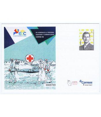Sobre entero Postal 153 Feria Exfilna 2020 en Cáceres.  - 1