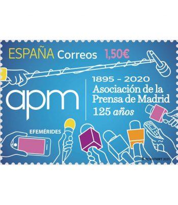 Sello de España 5451 125 Años Asociación de la Prensa de Madrid  - 1