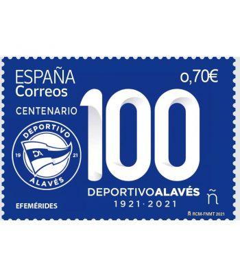 Sello de España 5454 Centenario Deportivo Alavés  - 1
