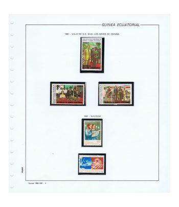 Colección Guinea Ecuatorial sellos nuevos año 1981 al 1990  - 1