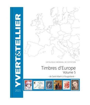 YVERT ET TELLIER Catálogo de sellos Europa San Marino a Yugoslavia 2021  - 1
