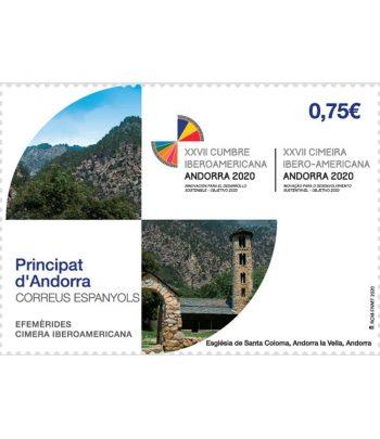 Andorra Española 493 Efemérides. Cimera Iberoamericana  - 1