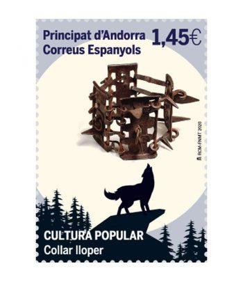 Andorra Española 495 Cultura popular. Collar lloper  - 1