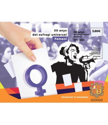 Andorra Española 498 HB 50 anys del sufragi universal femeni  - 1