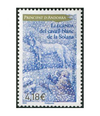 Sello Andorra Francesa 835 El caballo blanco de la Solana.  - 1