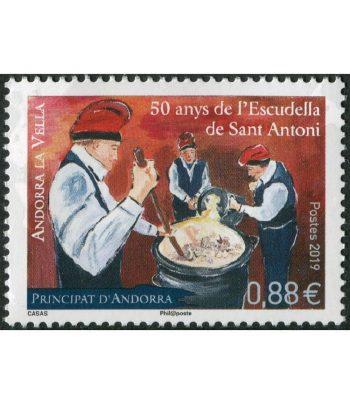Sello Andorra Francesa 836 Escudella..  - 1
