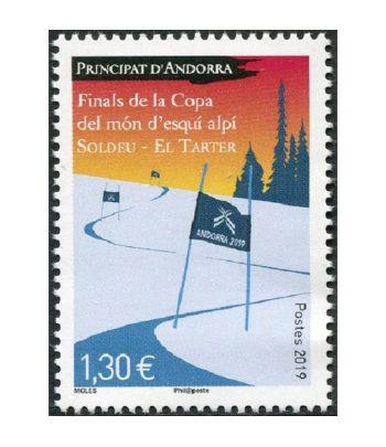 Sello Andorra Francesa 838 Final Copa Esquí alpino.  - 1