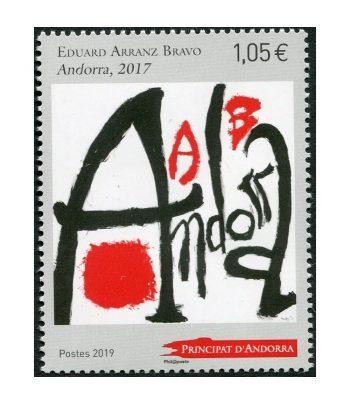 Sello Andorra Francesa 842 Pintor Eduard Arranz Bravo  - 1