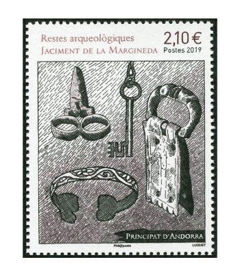 Sello Andorra Francesa 844 Yacimiento de la Margineda.  - 1