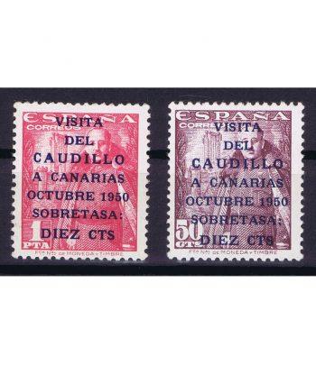 Sello de España 1088/9 Canarias Correo. Charnela  - 1