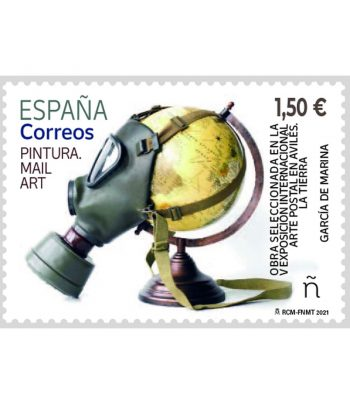 Sello de España 5476 Mail Art. Pintura.  - 1