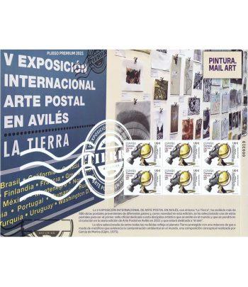 2021 Pliego Premium 104 Exposición Arte Postal Avilés  - 1