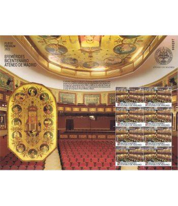 2021 Pliego Premium 105 Bicentenario Ateneo Madrid  - 1