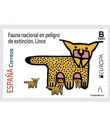 Sello de España 5481 Serie Europa 2021. Lince  - 1
