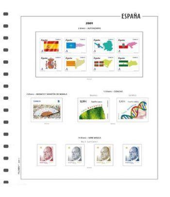 FILOBER suplemento sellos España Color año 2021 1ªparte sin protectores Hojas FILOBER Color - 2