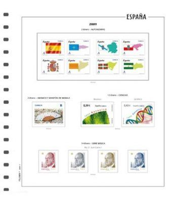 FILOBER suplemento sellos España Color año 2020 con protectores Hojas FILOBER Color - 2