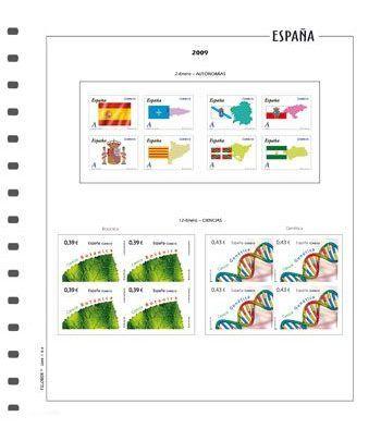 FILOBER suplemento ESPAÑA bloque de 4 año 2020 con protectores Hojas FILOBER Color - 2