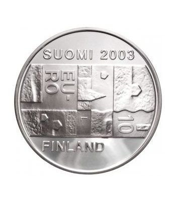 moneda Finlandia 10 Euros 2003 (Chydenius) (estuche proof)  - 1