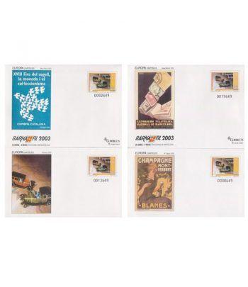 Sobre Entero Postal 085 a,b,c,d Barnafil 2003 Europa  - 2