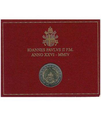 moneda conmemorativa 2 euros Vaticano 2004. Estuche Oficial.  - 2
