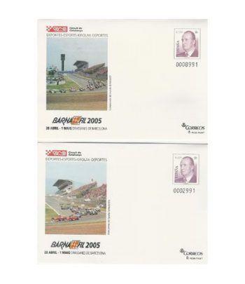 2005 BARNAFIL. Sobre entero postal-Circuit de Catalunya (2)  - 2