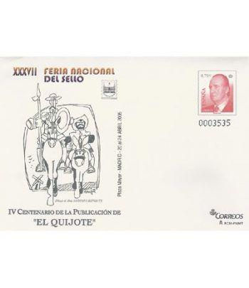 2005 F.N.DEL SELLO.  Sobre Entero Postal El Quijote  - 2