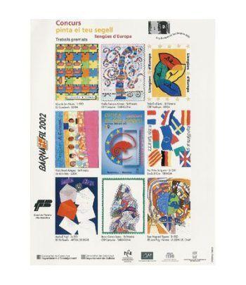 "2002 BARNAFIL. Hojita recuerdo ""pinta el teu segell""  - 2"
