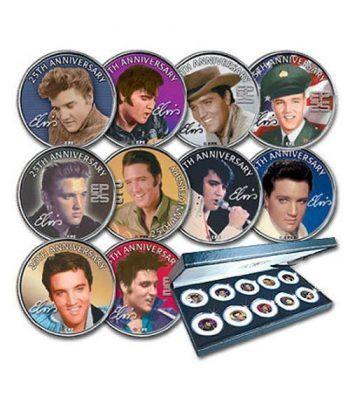 E.E.U.U. 1/4$ (2002) Elvis Presley. 10 monedas.  - 2